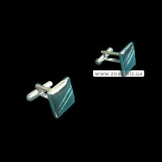 Запонки никелированные