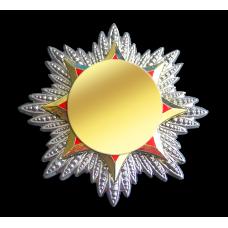 Основа штампованная 2-х детальная в виде звезды для награды или знака