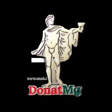 """Значок  контурний, никелированный """"Донат"""""""