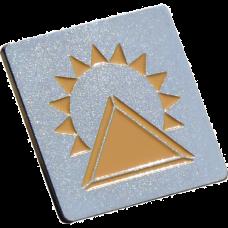 """Значок латунный позолоченний """"Пирамида"""""""