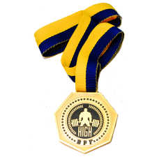 Медаль соревнований по пауэрлифтингу GPF